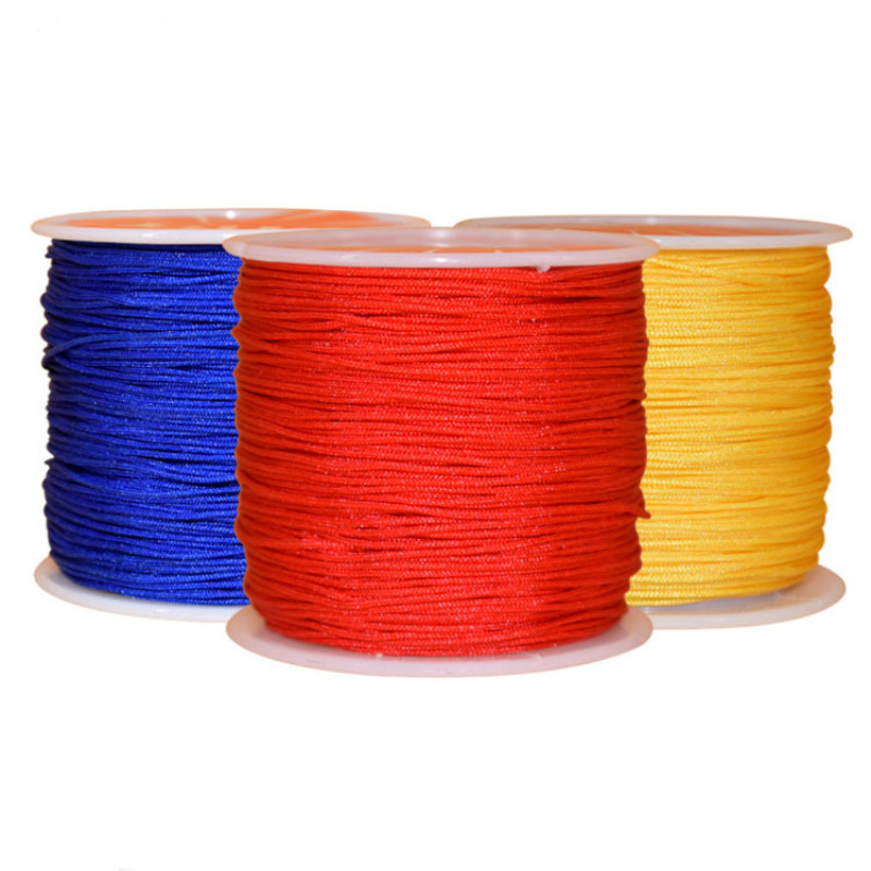 1Roll-135Yard 0.8mm Nylon Braided Wire Hand-woven Chinese Knot Tassels Line Wire