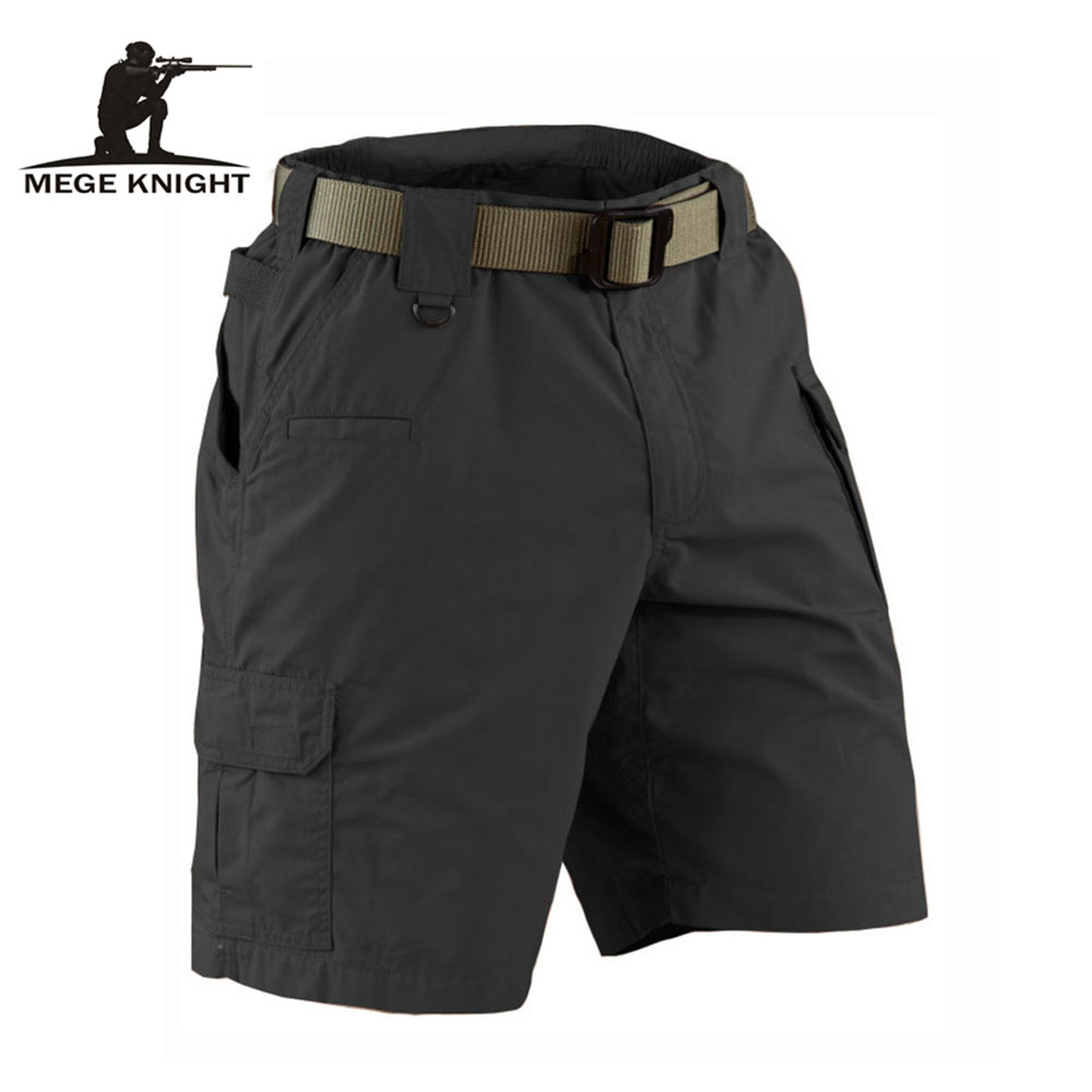 MEGE KNIGHT Brand Summer Military Field Tactical Casual Solid Shorts for Men Multi pocket Army Combat Ripstop Working Short