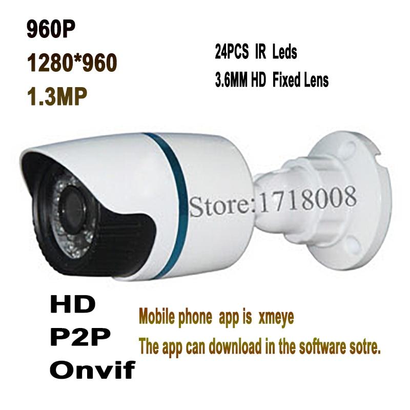 960P Cctv Security Outdoor Surveillance Video Mini IP Camera Onvif Bullet H.264 CMOS Sensor Motion Night Vision P2p Hd Network hjt wireless wifi hd 960p 1 3mp ip camera bullet outdoor security onvif 2 1 h 264 network p2p 2ir night vision ftp rtsp