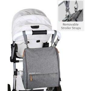 Image 5 - Изоляционная модная Простая Сумка для подгузников, рюкзак для мам, детские сумки для мамы, папы с ремнями для подгузников, Сменные подушечки, влажная сумка