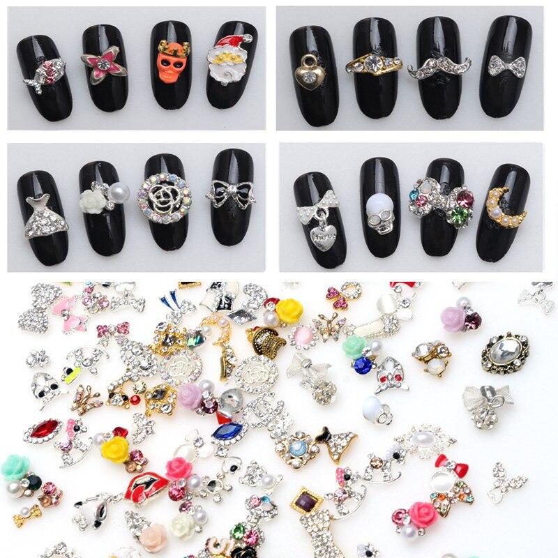 30pcs/pack Mixed Nails Design Beauty Nail Art Decorations Alloy Nail ...