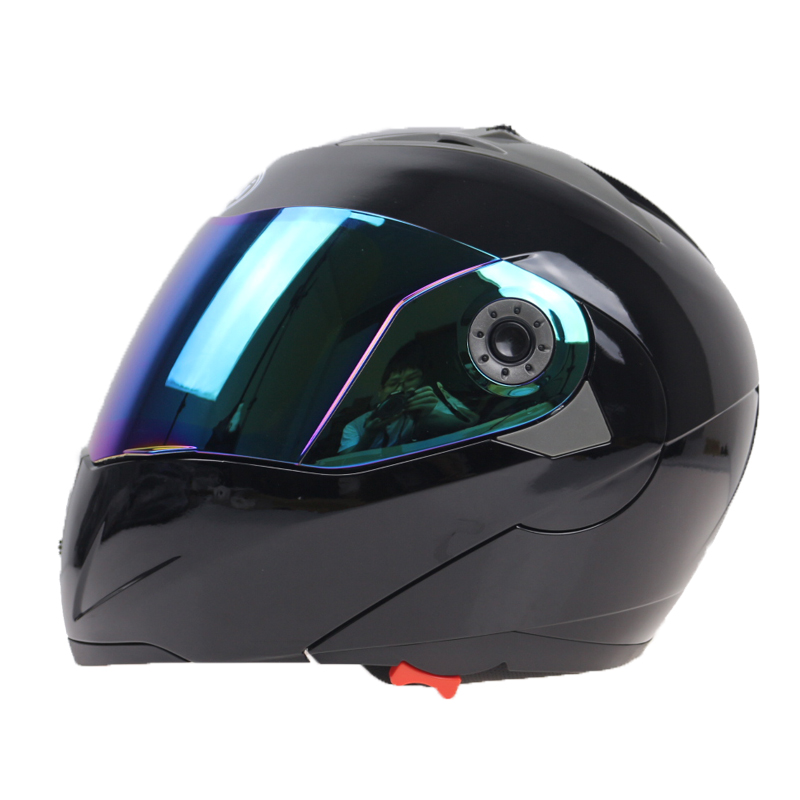 Flip up motorcycle helmet JIEKAI 105 double lens Moto helmet DOT approved racing bike helmet