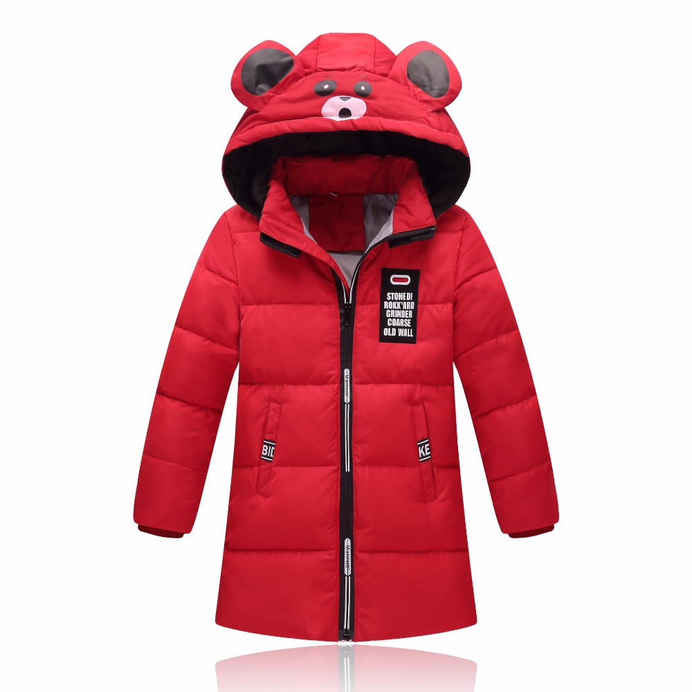 -20 Degree Children's Warm Duck Down Jacket Girl Clothes Hooded Outerwear Long Model Baby Jackets Girls Winter Coat Cold Parka