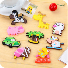 Creative Minion Cute Animal Cartoon Fridge Magnets for kids Small Size Silicone Gel magnetic fridge magnet(China)