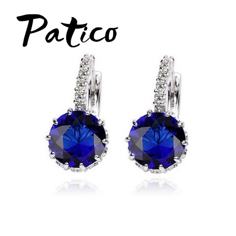 Clear White Cubic Zircon Handmake Diy Jewelry Accessories And To Have A Long Life. Earrings Beautiful Patico U-shape 1pair 925 Sterling Silver Women Hoop Earrings Aaa+