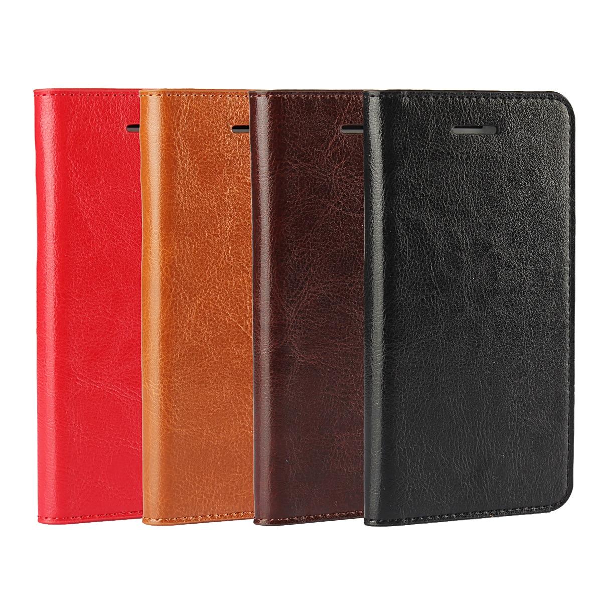 Nota 4 Caso de la Cubierta de Cuero Libro de la Carpeta Del Monedero de Lujo de