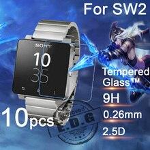 10 stücke 0,26mm 9 H Explosionsgeschützte Anti scratch LCD Gehärtetem Glas Film Für Sony SmartWatch 2 SW2 Uhr Displayschutzfolie