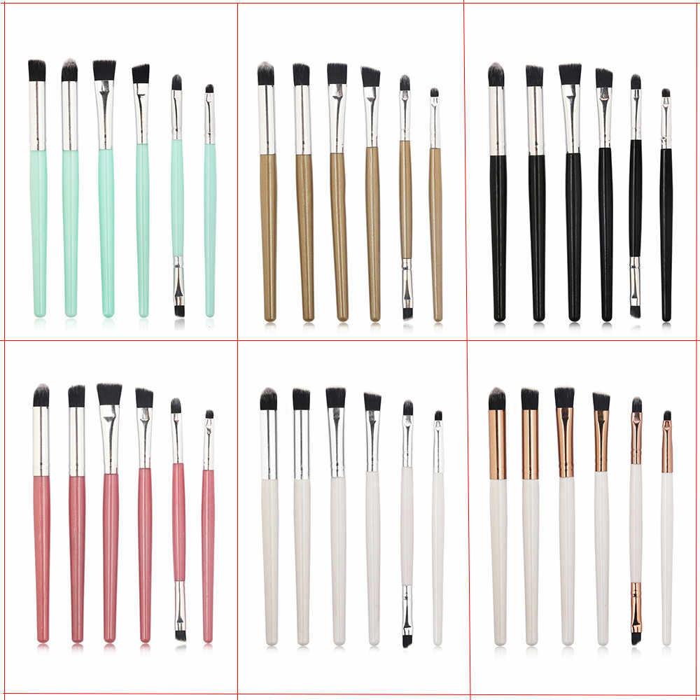 6 sztuk kosmetyki do makijażu pędzle do makijażu makijaż ust szczotka do twarzy fundacja Contour kosmetyczne pędzel do cieni do powiek kompletny zestaw uroda narzędzie