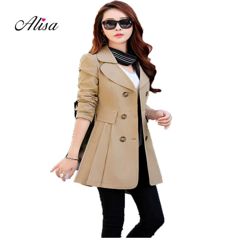 Casaco Feminino Plus Size Vintage Trench Coat 2019 New Spring Long Sleeve Slim Harajuku Windbreaker Ladies Double Breasted Coats