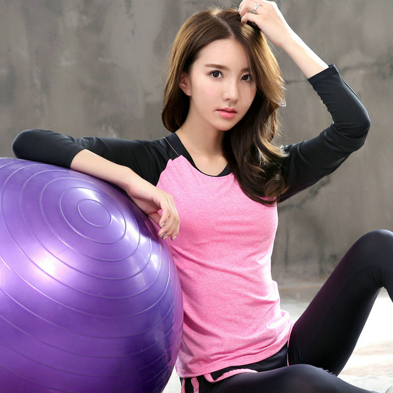 Hot Sale Breathable Dry Quick Yoga Top Gym Shirt Women Sports Workout T-shirts Running Long Sleeve Fitness Women's Clothes Tops