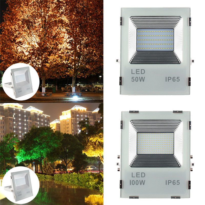 LED Flood Light Projector IP66 WaterProof 50W 100W 86-264V LED FloodLight Spotlight Outdoor Wall Lamp Garden Outdoor Lighting ultrathin led flood light 200w ac85 265v waterproof ip65 floodlight spotlight outdoor lighting free shipping