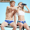 Environmental Dyeing Couples underwear cute cartoon stars breathable soft underwear suits low waist high quality shorts 6077