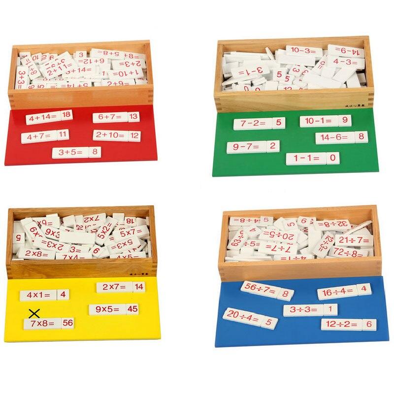 Montessori mathématiques matériaux arithmétique boîte Addition soustraction jouets éducatifs en bois pour 3 ans Juguetes Montessoir E2864H
