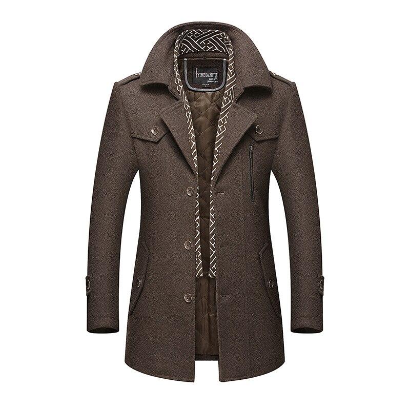 Image 3 - BOLUBAO, мужское зимнее шерстяное пальто, мужская мода, отложной воротник, теплая Толстая шерстяная смесь, шерстяное бушлат, мужской Тренч, пальто-in Шерсть и сочетания from Мужская одежда