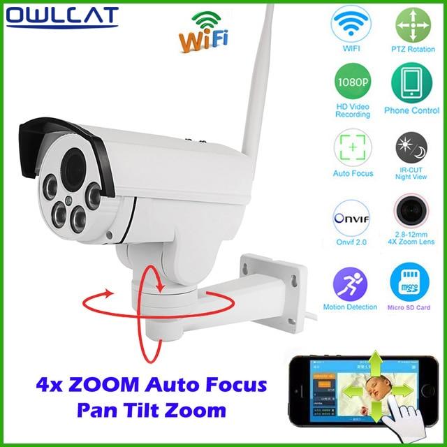 HI3516C SONY IMX323 HD 1080P 960P Network Wireless 4X Auto Zoom Outdoor Bullet Waterproof PTZ WIFI