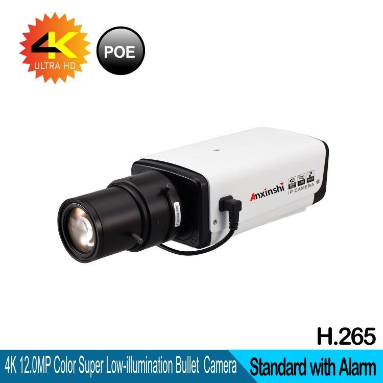 3.6-11mm lente 4 K Sensor de 12mp câmera IP Hi3516A + SonyIMX226 Ultra Alarme rede PoE H.265 & câmera de vídeo De Segurança H.264 daul poder