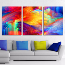 Canvas Abstract Painting, Spot The Pattern, Painted Rainbow Wall Art