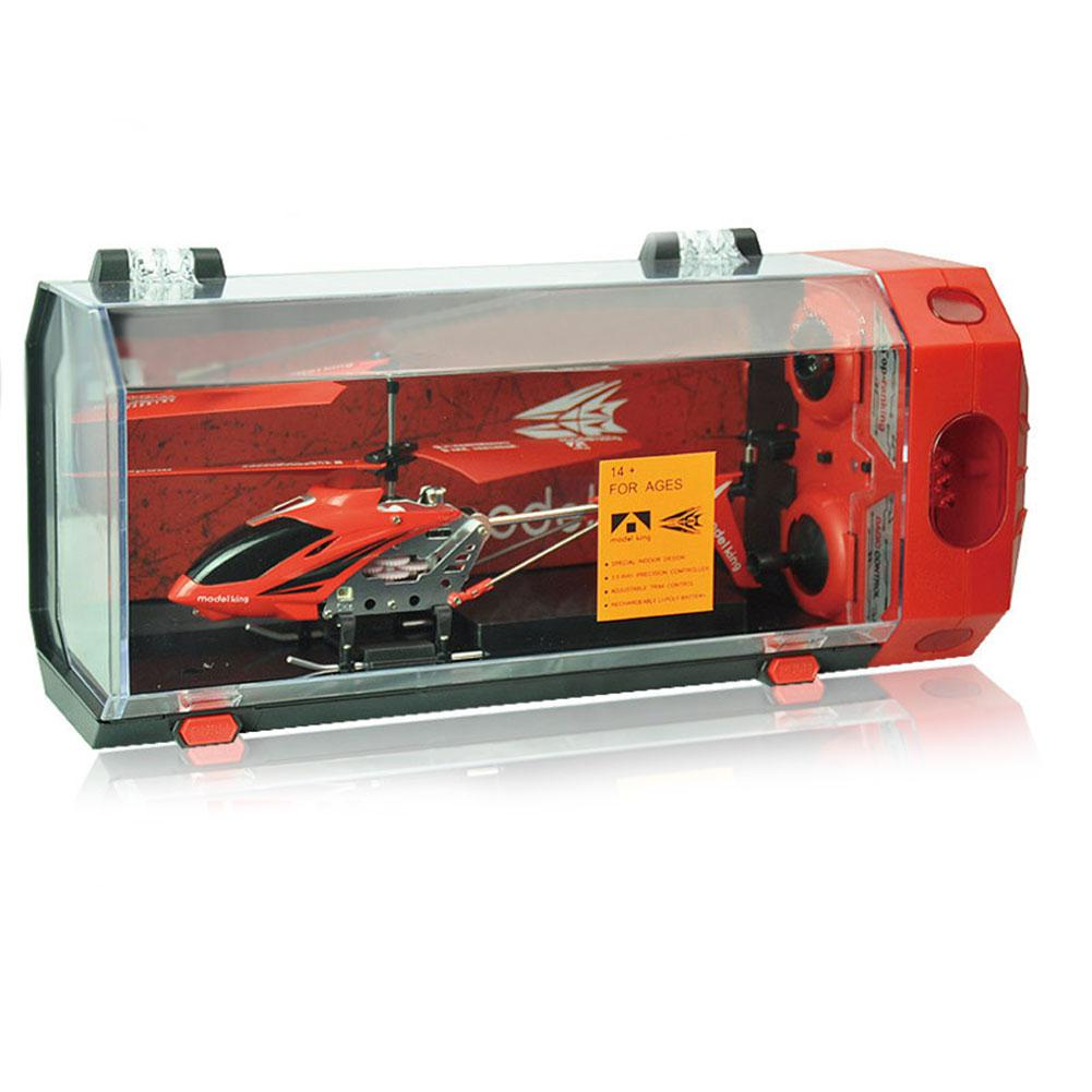 3.5 Channel Alloy Crash Resistant Mini RC Helicopter with Gyroscope and <font><b>LED</b></font> Lights for Indoor, Color Random image