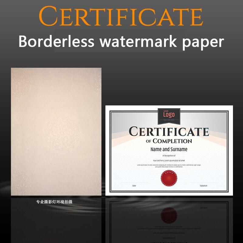 Guguklu 1 adet A4 boş sahteciliğe karşı filigran sertifikası çekirdek randevu mektup yetkilendirme eğitim tamamlama iç