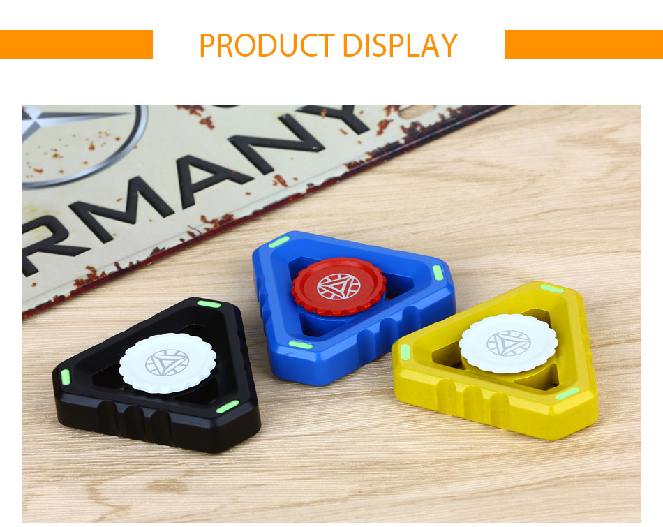 Ironman Triangle Hand Spinner Fidget Toy Multifunctional EDC Focus Fidgets Finger Spinner for ADHD Autism Anti Stress Spinning