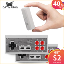 DATA FROG Newest Retro Video Game Console 8 Bit Built in 600 Classic Games Mini Wireless Console AV Output Dual Gamepads