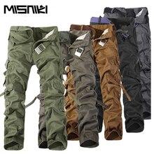2017 Top Mode Militär Baumwolle Cargo Pants Männer Multi-tasche Feste Plus Größe Hosen Männer (Asiatische Größe 28-42)