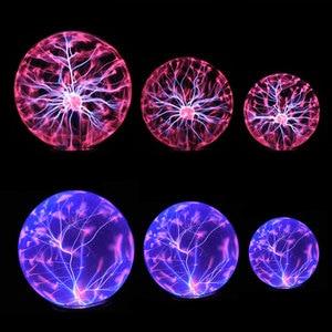 Image 5 - Lampe boule en cristal magique, lampe sphère ionique, éblouissante, carnaval, lampe dambiance pour KTV purification de lair, nouveauté nocturne