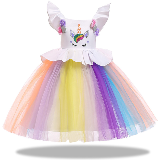Colorful Unicorn Party Dress