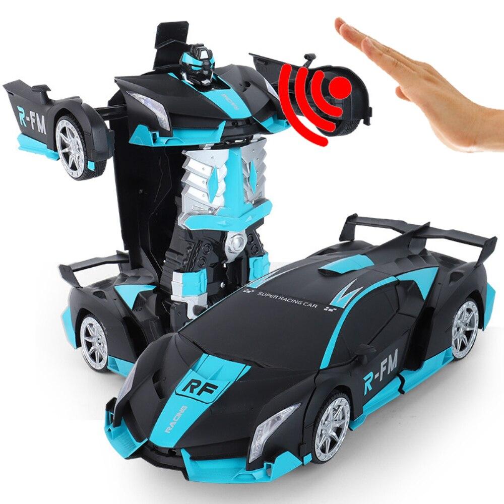 Haute qualité RC voiture 1:12 grand geste détection électrique Transformation Robots voitures de sport dérive modèle télécommande voiture jouet - 3