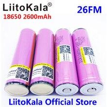 LiitoKala for samsung 18650 2600mah battery 100% icr18650-26fm originally 3.7V 2500mah rechargeable battery for flashlight