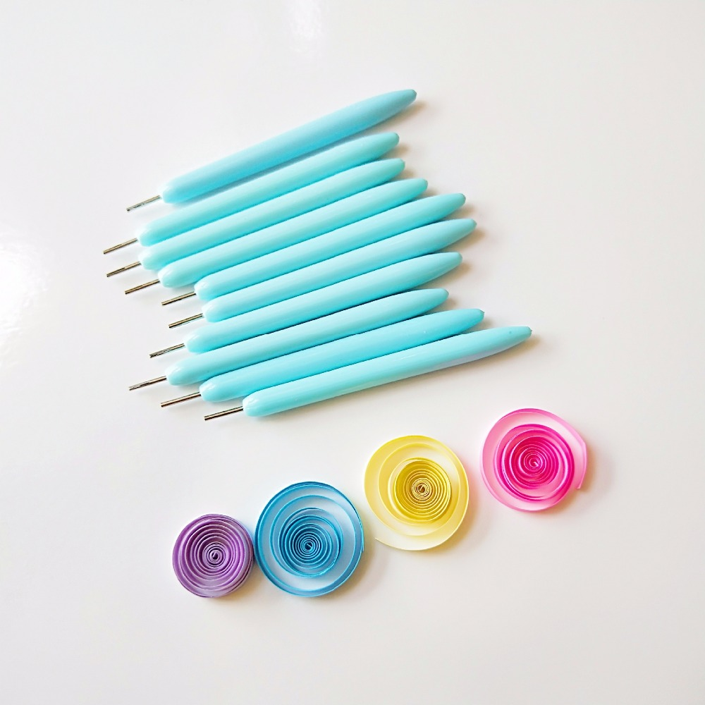 Electric Slotted Paper Craft Quilling Tool Origami Curling Winder Steel Pen F4B2