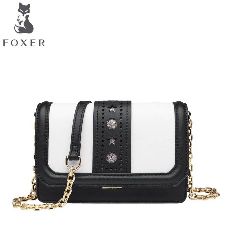 Contraste Black Sac Foxer2019 Luxe Messager Sauvage Carré Femelle Petit Chaîne Nouvelle Mode D'épaule Marque Célèbre Tempérament De Couleur 0npprEIwTq