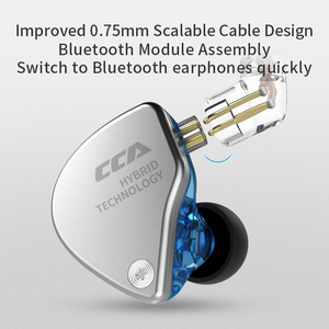Image 2 - 2019 CCA CA4 1BA+1DD Hybrid In Ear Earphone HIFI DJ Monitor Sports Running Stage IEM 2 Drive Unit Headset Detachable 2Pin Cable