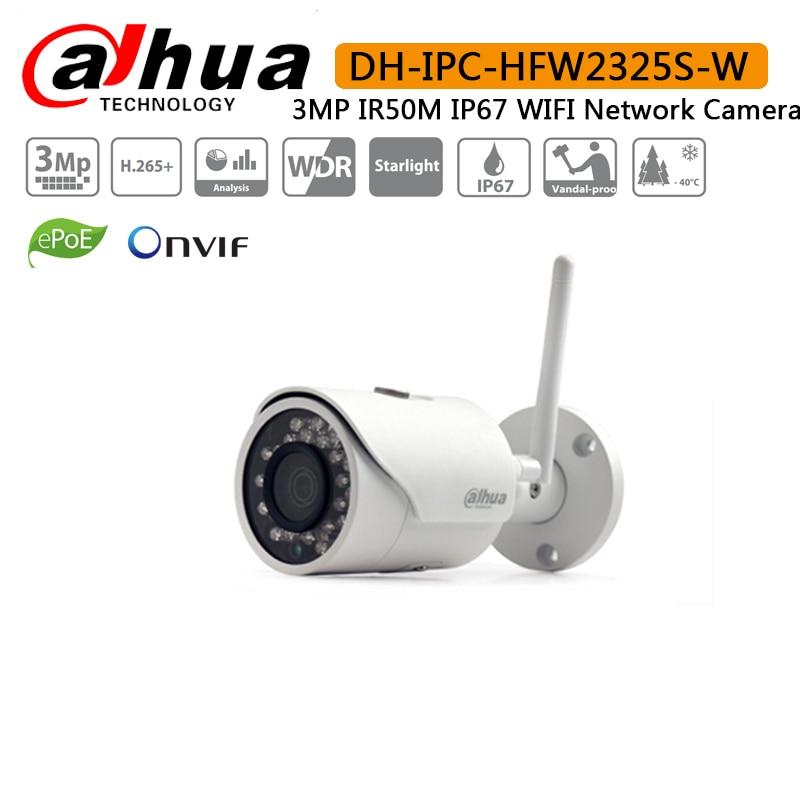 Original Dahua IPC HFW2325S W 3MP IR50M built in WIFI SD Card slot Network outdoor WIFI