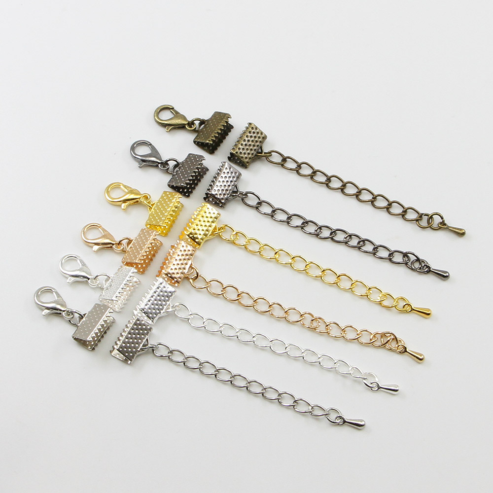Cord-End-Fastener Clasps-Connectors Chains Ribbon Jewelry Lobster Making-Findings Bracelet Diy