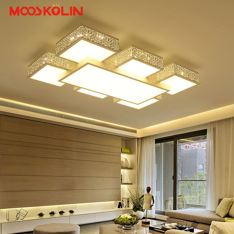Moderne LED Plafond Lustre Lampe Salon Chambre Restauran LED Plafond Lustre Luminaires Lumières pour l'éclairage intérieur de la maison