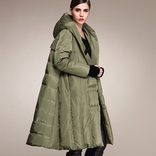 2016 Winter Jacket Female Knee Thickening Loose Code and The Wind In The Long Coat Cotton Cloak