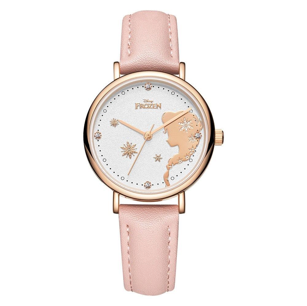 Disney Frozen Women Children Watches Frozen Princess Rhinestone Decor Wristwatches Child Girl Teenage Bracelet Watches