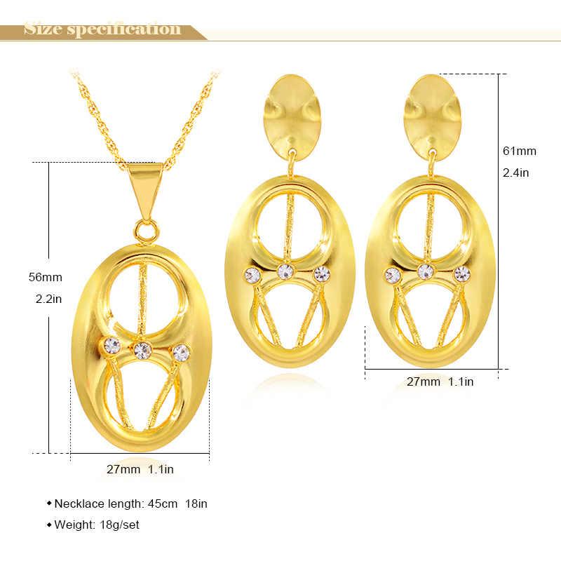 Bijoux ensoleillés ensemble de gros bijoux pour femmes collier boucles d'oreilles pendentif Dubai bijoux de mode pour cadeau d'anniversaire résultats de bijoux