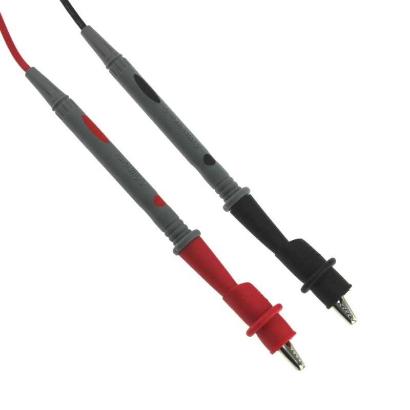 Зажимы аллигатора зажим кабель цифровой мультиметр тест + 1000 в 20А тестовый провод