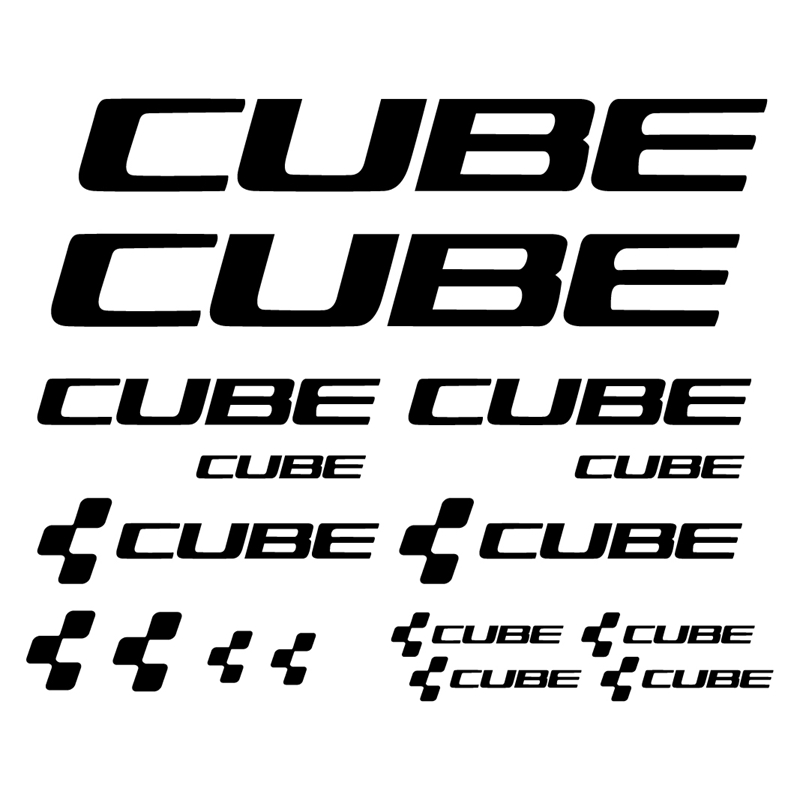 Custom Bicycle Vinyl Decal Sticker For Cube , KIT PEGATINAS STICKERS VINILO LAMINA PACK BICICLETA FOR CUBE DECOR