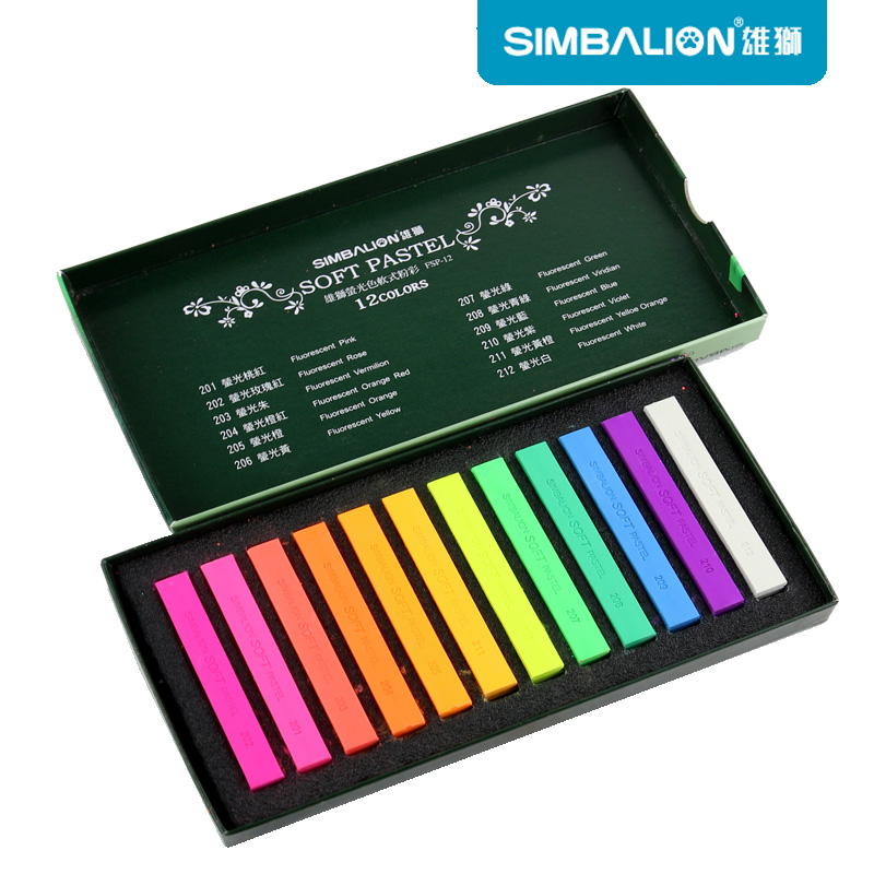 Simbalion Pastel Masters 12 colores fluorescentes colores pastel suave set arte dibujo suministros