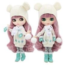 Ледяная кукла DBS blyth 1/6 игрушка bjd совместное тело микс розовые волосы белая кожа совместное тело подарок 1/6 30 см Обнаженная кукла