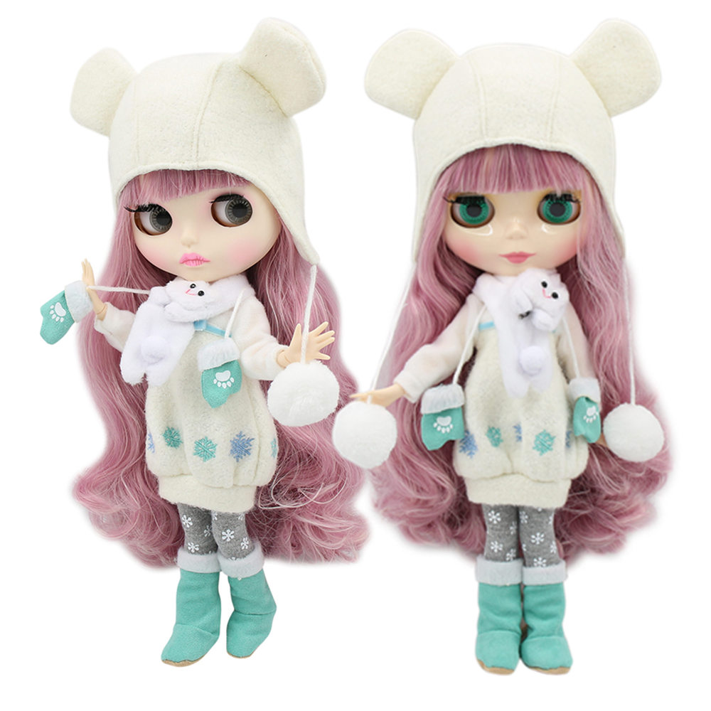 factory 1/6 blyth doll toy bjd joint body mix pink Hair white skin joint body gift 1/6 30cm 280BL1063/2352, naked dollDolls   -