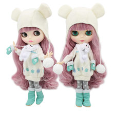 factory 1/6 blyth doll toy bjd joint body mix pink Hair white skin joint body gift 1/6 30cm 280BL1063/2352, naked doll
