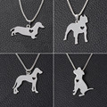 Fashion New Style Dog Shape Alloy Pendant Necklace Dachshund Charm Necklace Jewelry 2016