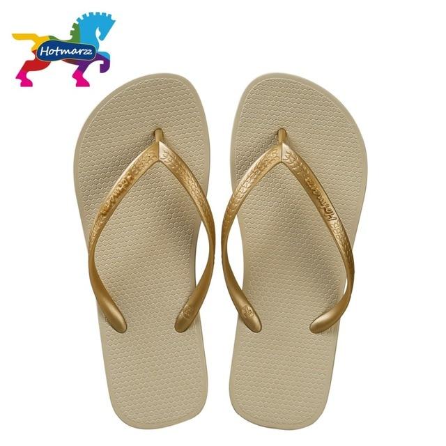 9cba8c431c0b7 Hotmarzz Women Shoes Slippers Fashion Designer Beach Flip Flops Ladies  Summer Flat Thong Sandals Shower Slides