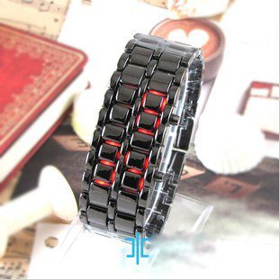 Lava  chain watch  popular new concept  watch high tech cool watch LED watch with instruction sheet
