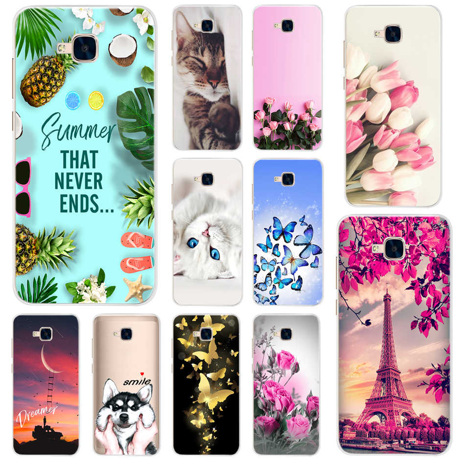 Tpu Phone Case For Huawei Honor 5C Case NO Fingerprint Soft Silicone Cover Case For Honor 5C 5 C Eu Version 5.2 inch Cover Coque