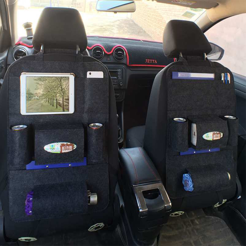 Universal Baby Stroller Diaper Bag Car Vehicle Back Seat Protector Cover Hanging Bag Storage Organizer Bag Stroller Accessories